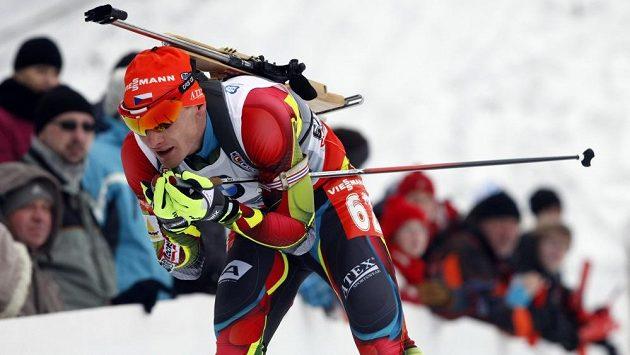 Sprint mužů, na snímku Čech Ondřej Moravec.