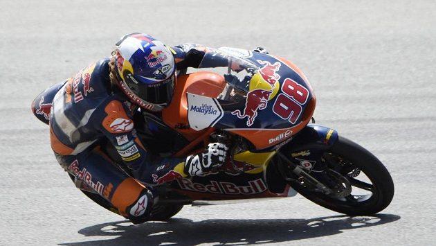 Karel Hanika při kvalifikaci na Velkou cenu Německa silničních motocyklů.