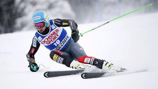 Americký lyžař Ted Ligety v Beaver Creeku.