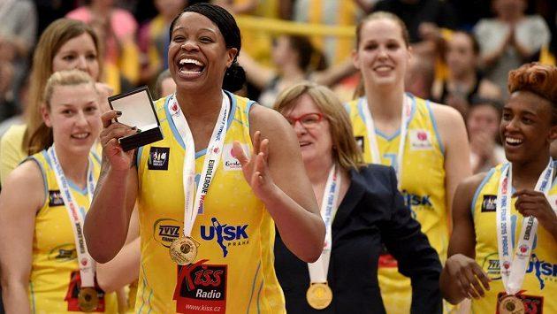 Basketbalistka USK Praha Kia Vaughnová byla před dvěma lety vyhlášena nejužitečnější hráčkou Final Four.