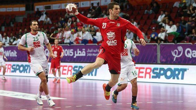 Ondřej Zdráhala v zápase s Alžírskem.