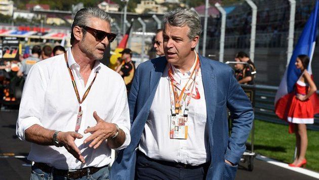 Maurizio Arrivabene (vlevo) na okruhu v Soči.