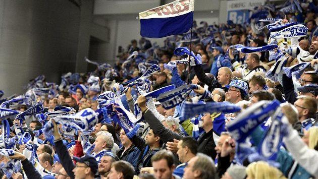 Fanoušci Komety Brno během utkání se Spartou.