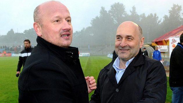 Generální manažer Plzně Adolf Šádek (vlevo) a majitel klubu Tomáš Paclík.