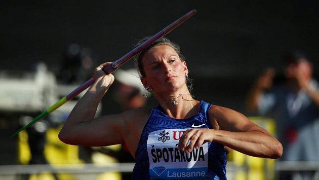 Barbora Špotáková při svém jediném pokusu v Lausanne.