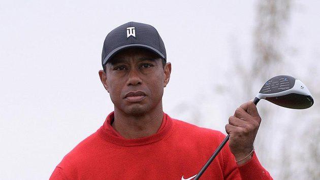 Tiger Woods na snímku z ledna při Farmers Insurance Open.