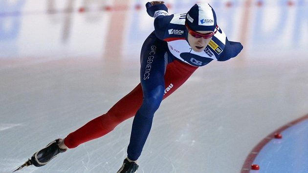 Rychlobruslařka Martina Sáblíková vyhrála na SP v Erfurtu závod na 5000 metrů.
