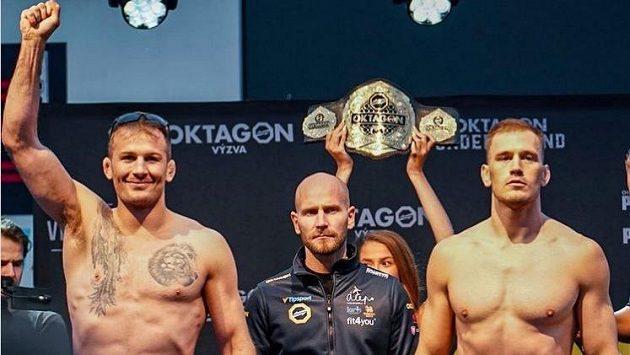 Turnaj OKTAGON 28 vyvrcholí titulovou bitvou mezi Stephanem Pützem (vlevo) a Viktorem Peštou.