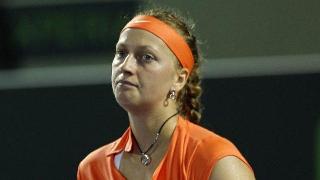 Petra Kvitová během zápasu s Venus Williamsovou.