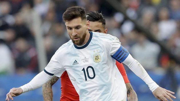 Argentinský fotbalista Lionel Messi při utkání o bronz na turnaji Copa América.