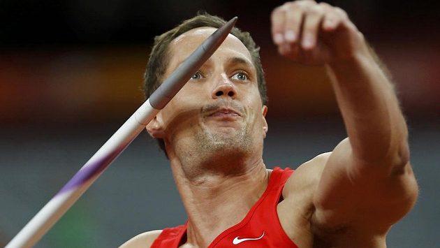 Vítězslav Veselý v oštěpařském finále na MS v Pekingu.