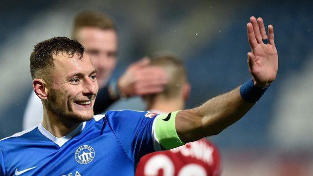 Liberecký Vladimír Coufal, autor jediného gólu utkání s Olomoucí.