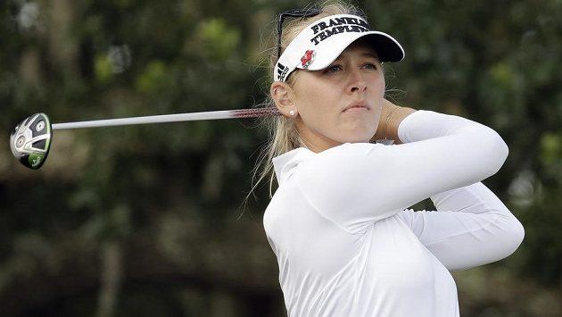 Jessica Kordová na turnaji v Charlestonu.