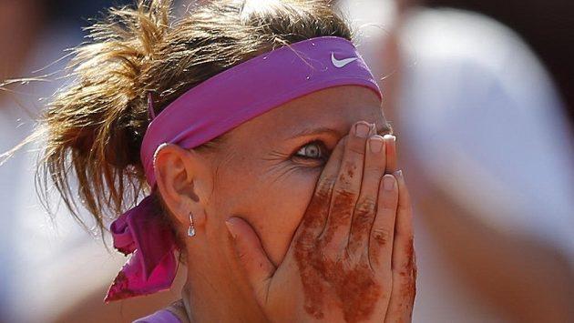 Lucie Šafářová stále nemůže uvěřit tomu, že se probojovala do svého prvního grandslamového finále v singlu.
