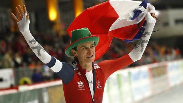 Martina Sáblíková na trojce pokořila v Inzellu všechny konkurentky a mohla si vychutnávat radost.