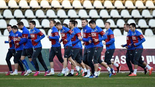 Čeští fotbalisté se chystají na další díl kvalifikace ME, v sobotu hostí v Edenu Lotyšsko.