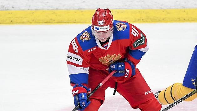 Ruský útočník Andrej Kuzmenko na ilustračním snímku.