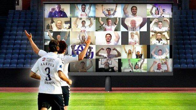 Dánský fotbalový klub Aarhus otevře fanouškům virtuální tribunu