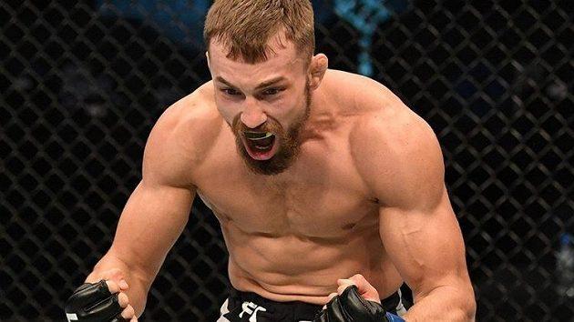 Takto se radoval Ludovít Klein po premiérové výhře v UFC. Bude se moct radovat znovu?