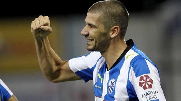 Jan Rezek ještě v dresu kyperského klubu Anorthosis Famagusta.