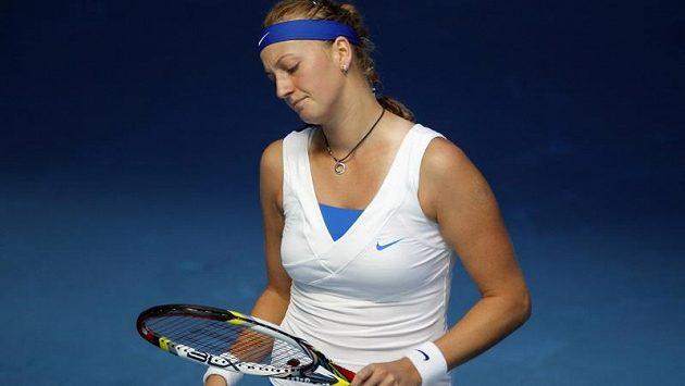 Petra Kvitová měla tentokrát k radosti daleko.