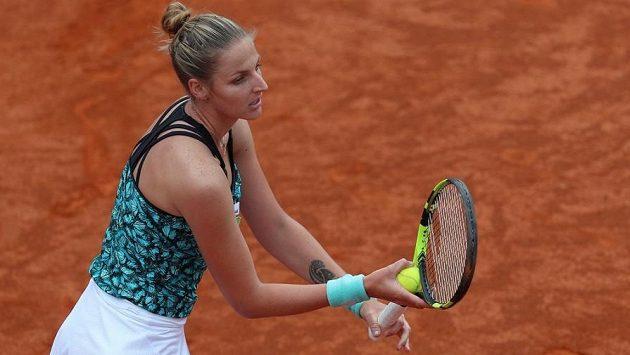 Kristýna Plíšková na pražské turnaji WTA.