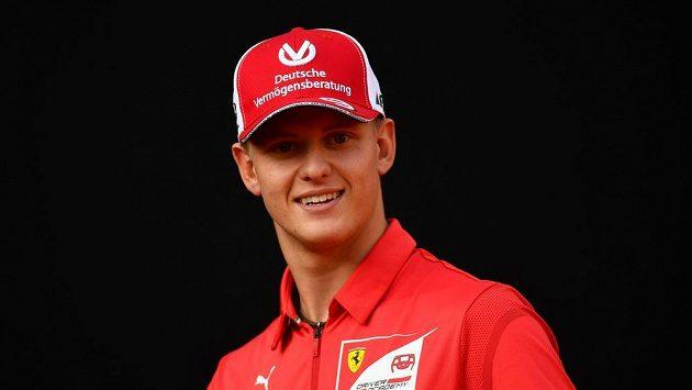 Schumacherův syn Mick při nedávných oslavách devadesátin týmu Ferrari.