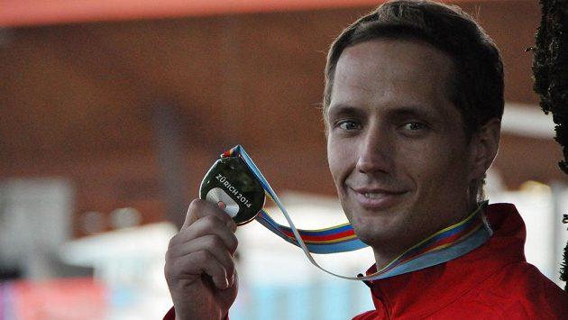 Oštěpař Vítězslav Veselý se stříbrnou medailí z ME v Curychu.