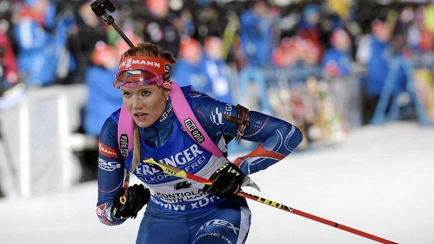Gabriela Soukalová na mistrovství světa v Kontiolahti.