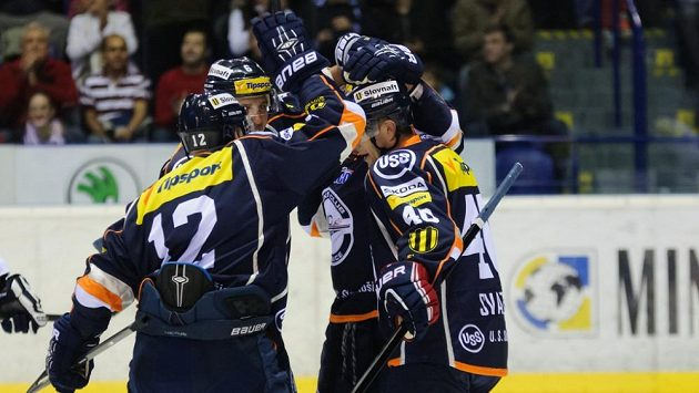 Hokejisté Košic na archivním snímku.