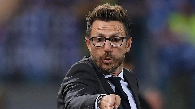 Kouč AS Řím Eusebio Di Francesco.