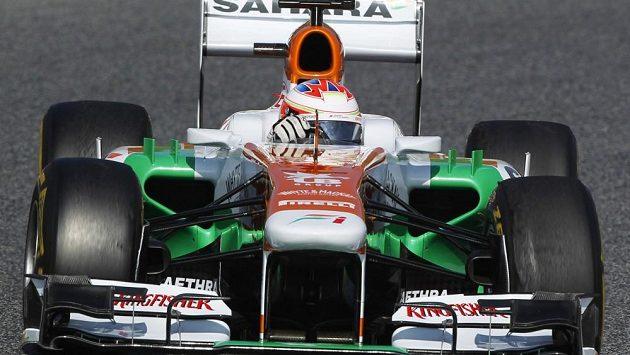 Do týmu Force India se po roční pauze vrací německý pilot Adrian Sutil. Jeho kolegou bude Brit Paul di Resta (na snímku).