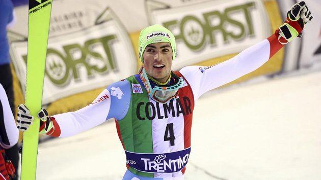 Velkou radost v cíli měl švýcarský lyžař Daniel Yule.