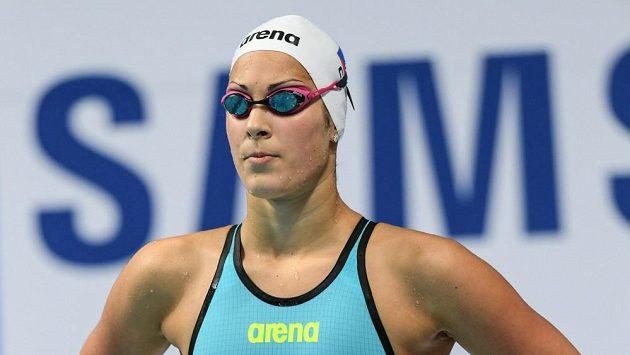 Česká plavkyně Lucie Svěcená.