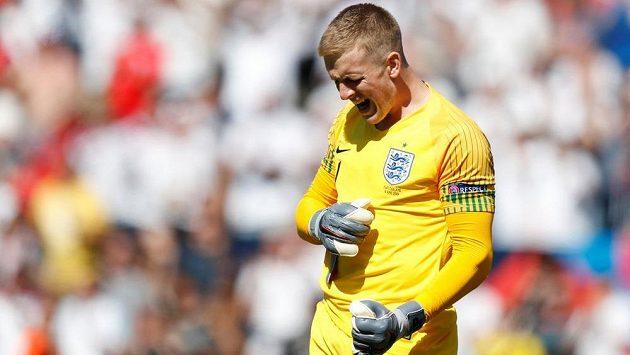 Gólman Jordan Pickford se výraznou měrou zasloužil o výhru Anglie v zápase o bronz Ligy národů proti Švýcarsku.