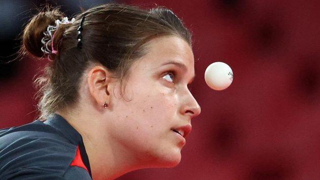 Německá stolní tenistka Petrissa Solja trénuje před OH v Tokiu.