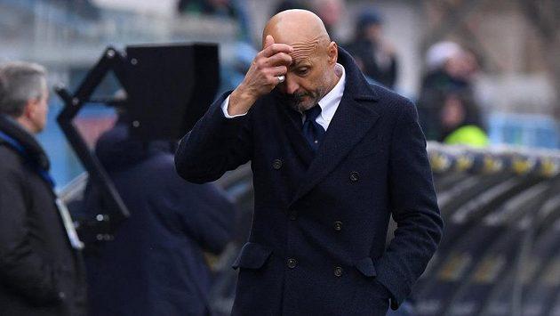 Zarmoucený trenér Interu Luciano Spalletti.