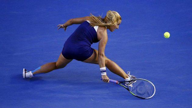 Slovenská tenistka Dominika Cibulková v plném nasazení během finále Australian Open.
