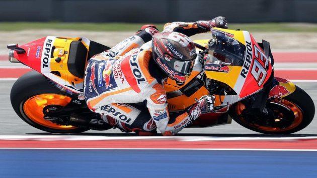 Marc Marquez zvládl kvalifikaci MotoGP v Austinu nejlépe.
