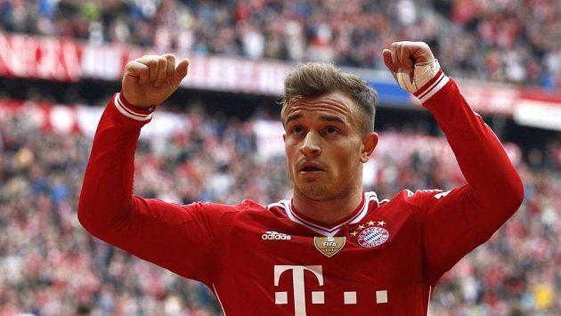 Švýcarský záložník Xherdan Shaqiri v dresu mnichovského Bayernu.
