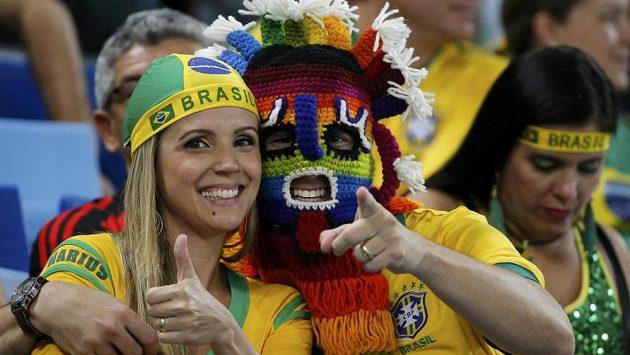 Brazilští fanoušci na světovém šampionátu (ilustrační foto).
