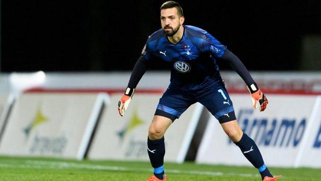 Brankář Dušan Melichárek v dresu Malmö FF.