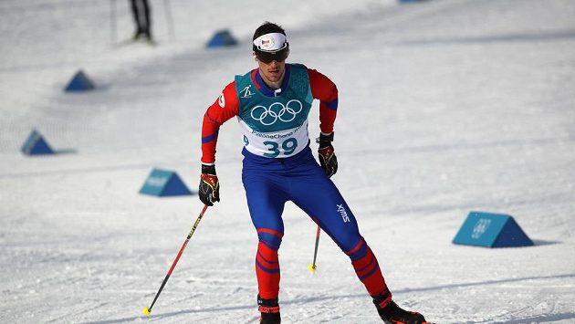 Český běžec na lyžích Martin Jakš na olympiádě v Koreji.