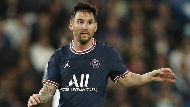 Lionel Messi během zápasu PSG s Lyonem