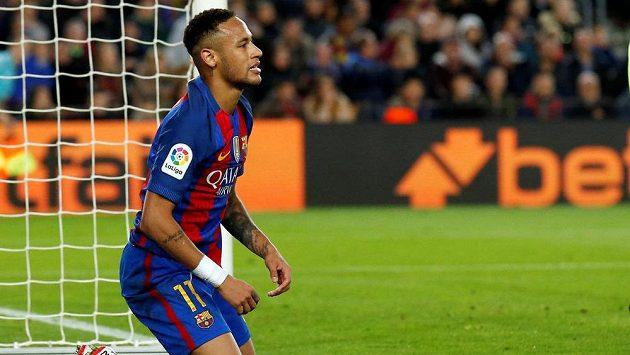 Útočník Barcelony Neymar.