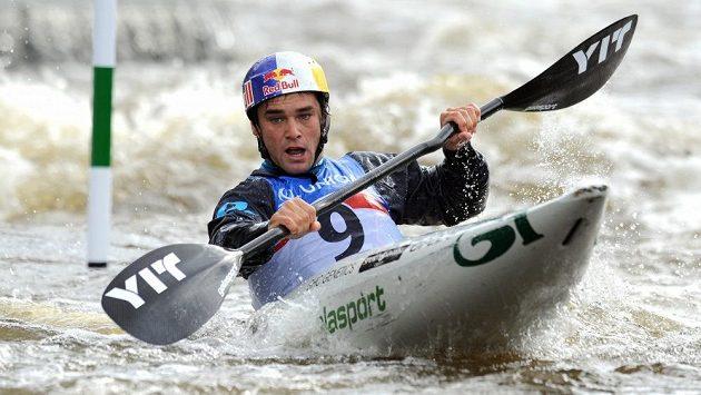 Český vodní slalomář Vavřinec Hradilek na MS ve vodním slalomu v kategorii K1 v Praze.
