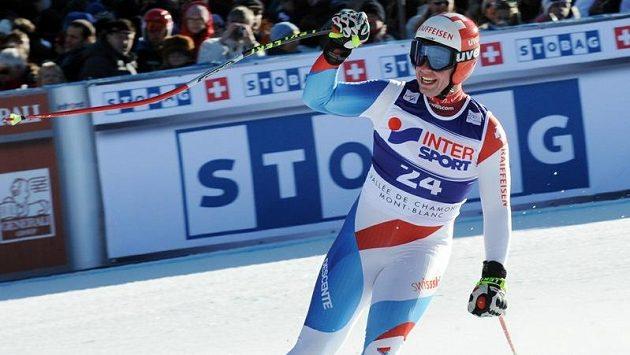 Švýcarský sjezdař Beat Feuz.