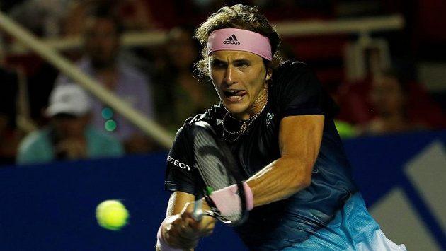 Německý tenista Alexander Zverev v akci během turnaje v mexickém Acapulcu.
