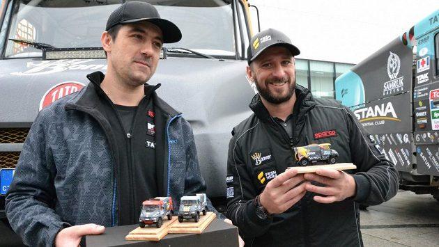 Tomáš Vrátný (vpravo) se chystá na svůj pátý Dakar.