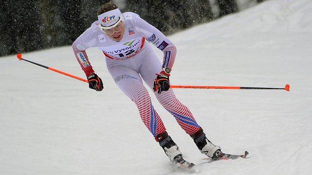 Česká reprezentantka Petra Nováková na trati v Novém Městě na Moravě.